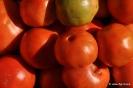 Tomates recolectados frutos rojos